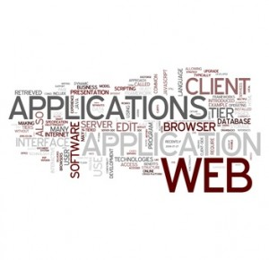 Web Applications Word Collage